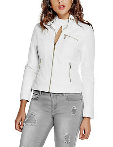 G by Guess Perforated Faux Leather Jacket
