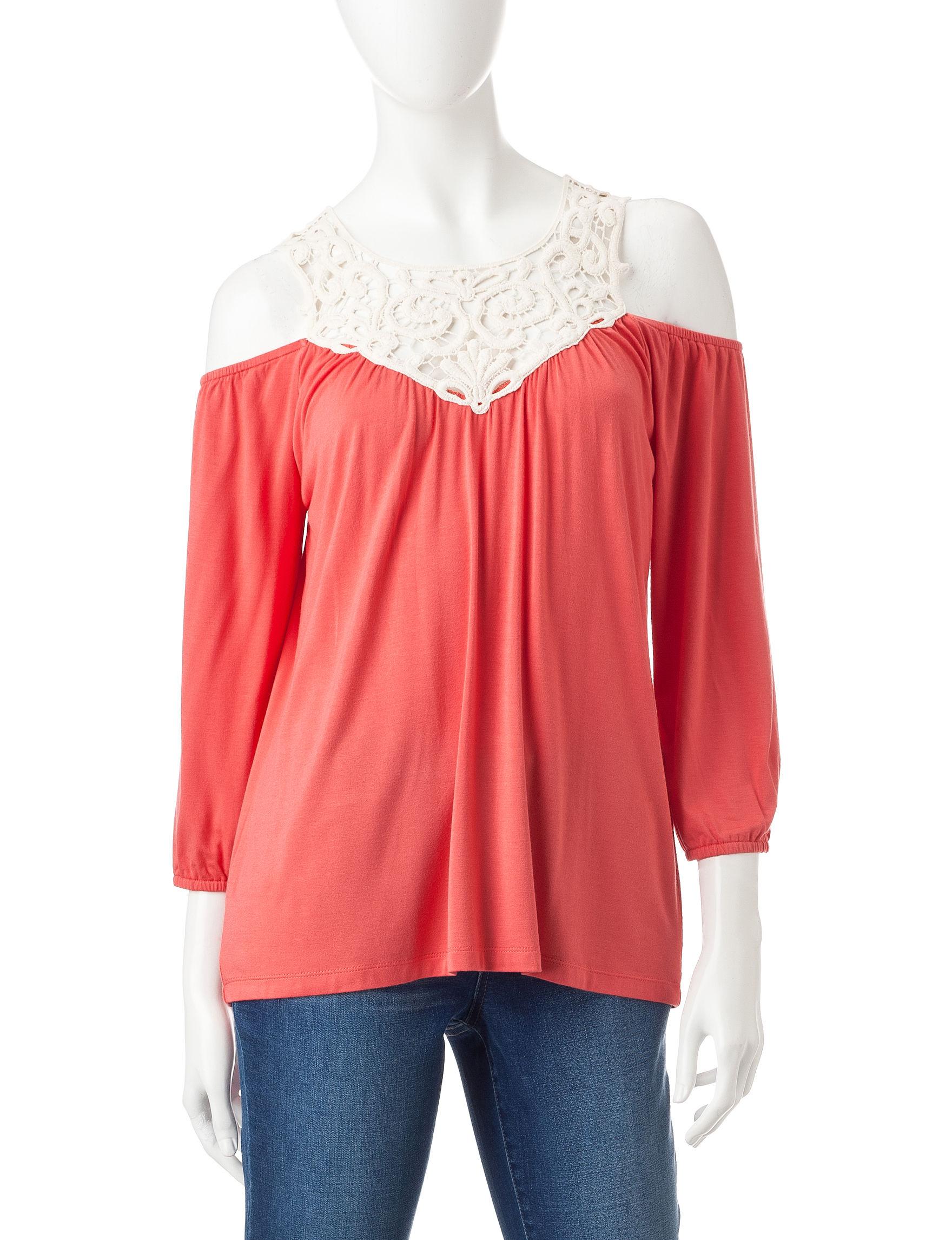 Signature Studio Pink Shirts & Blouses