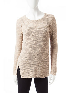 Kensie Slub Side Slit Sweater