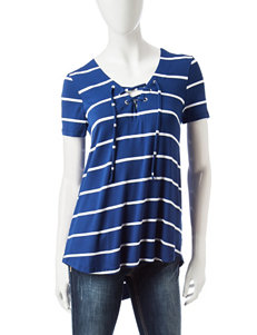 Wishful Park Navy Stripe Shirts & Blouses