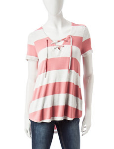 Wishful Park Hi-Lo Lace-Up Top