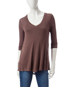 Signature Studio Brown Shirts & Blouses