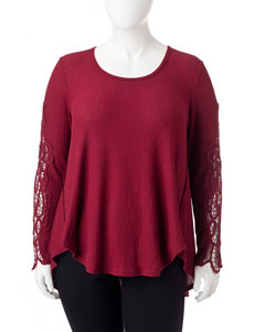 Hint of Mint Red Shirts & Blouses