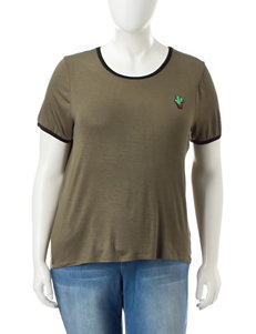 Extra Touch Olive Shirts & Blouses