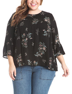 Eyeshadow Juniors-plus Lace Yoke Top