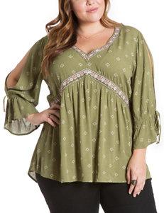 Eyeshadow Green Shirts & Blouses