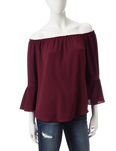 Signature Studio Red Shirts & Blouses