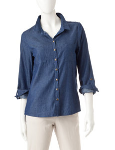 Signature Studio Dark Blue Shirts & Blouses