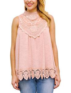 Taylor & Sage Pink Shirts & Blouses