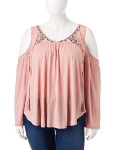 Eyeshadow Juniors-plus Cold Shoulder Top