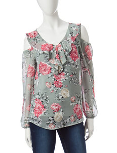 A. Byer Green / Pink Shirts & Blouses