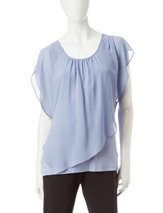 A. Byer Semi-Sheer Overlay Poncho Top