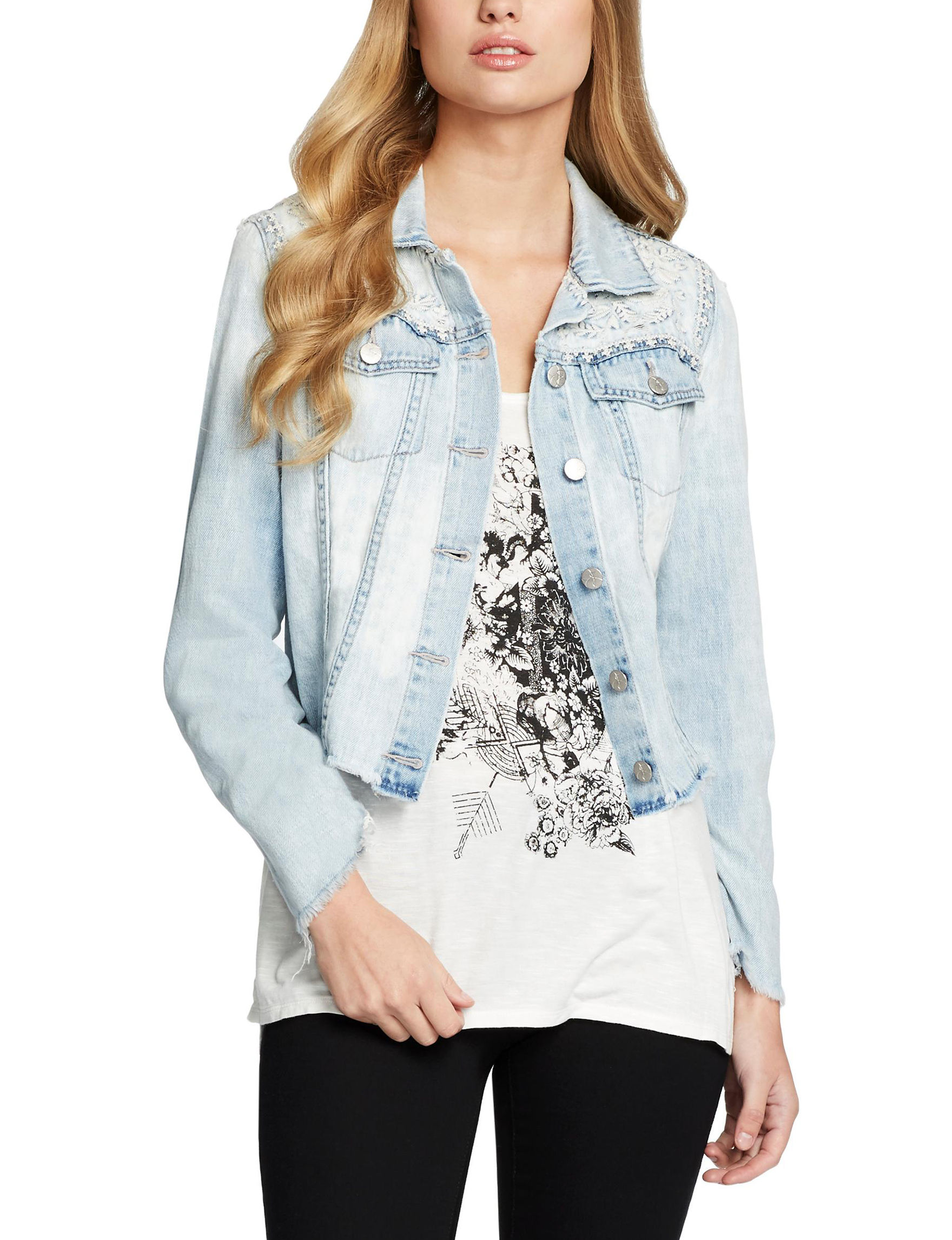 Jessica Simpson Blue Denim Jackets