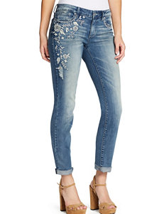 Jessica Simpson Embroidered Roll Cuff Jeans