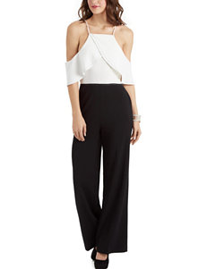 XOXO Crepe Cold Shoulder Jumpsuit