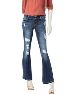 Amethyst Double Button Bootcut Jeans
