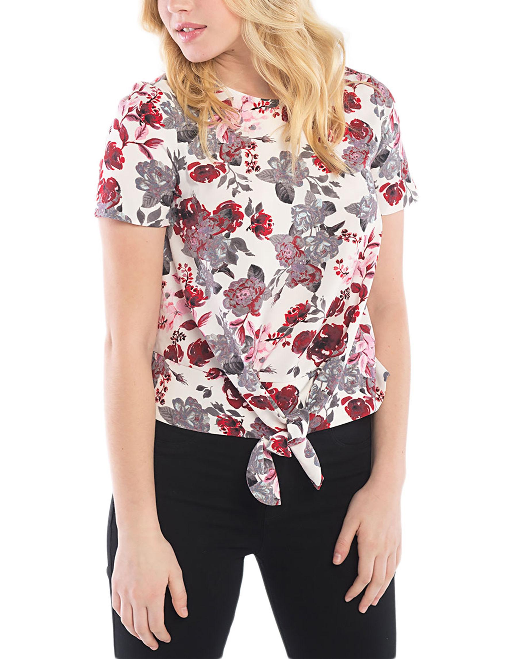 Kensie Cream Shirts & Blouses