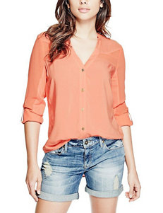 G by Guess Coral Shirts & Blouses