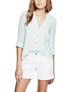 G by Guess Light Blue Shirts & Blouses