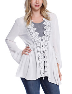 C and J Collection White Cardigans Sweaters