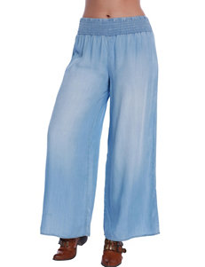 C + J Collection Blue Soft Pants Wide Leg