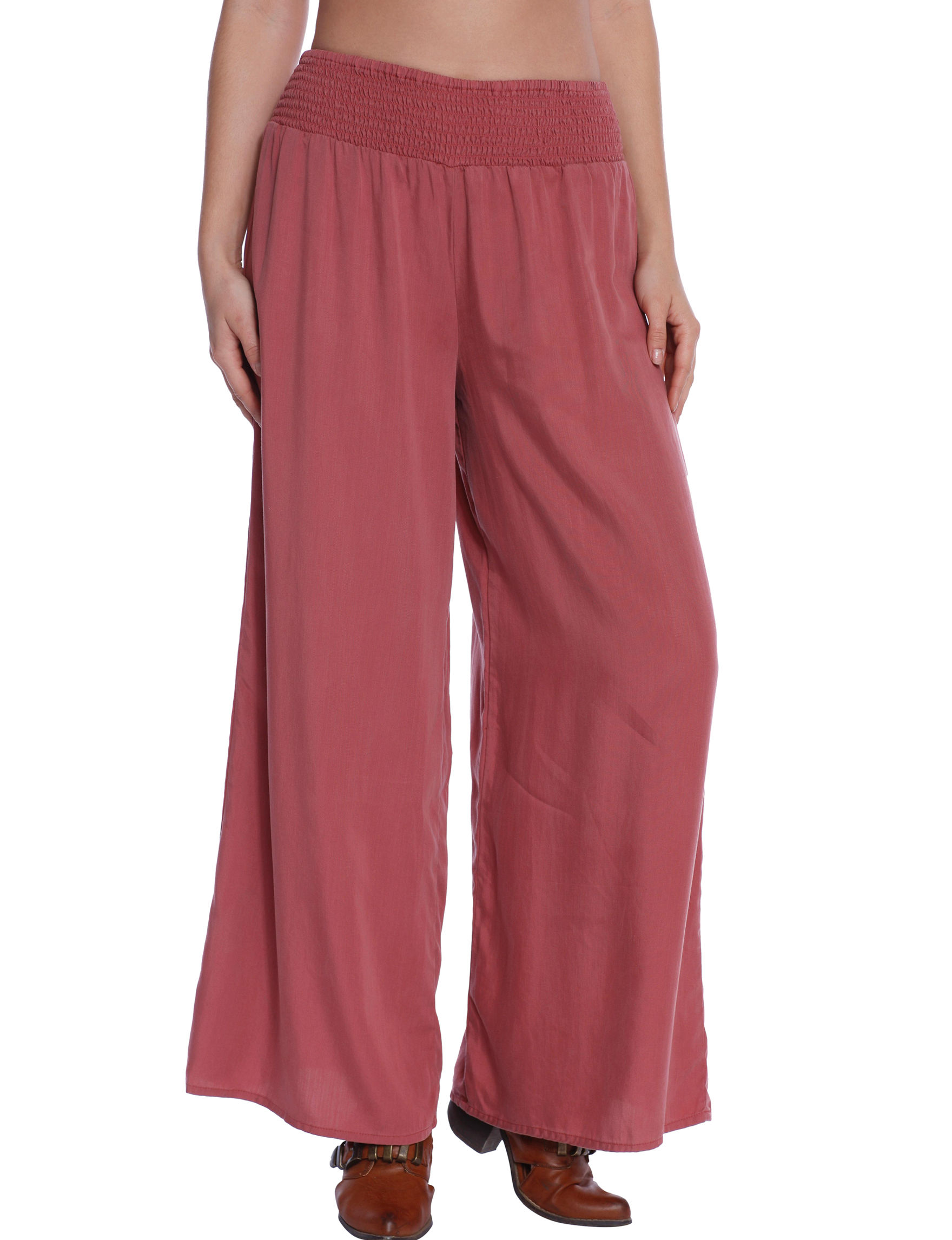 C and J Collection Red Wide Leg