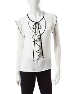 Heart Soul White Pull-overs Shirts & Blouses
