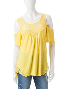 Signature Studio Yellow Shirts & Blouses