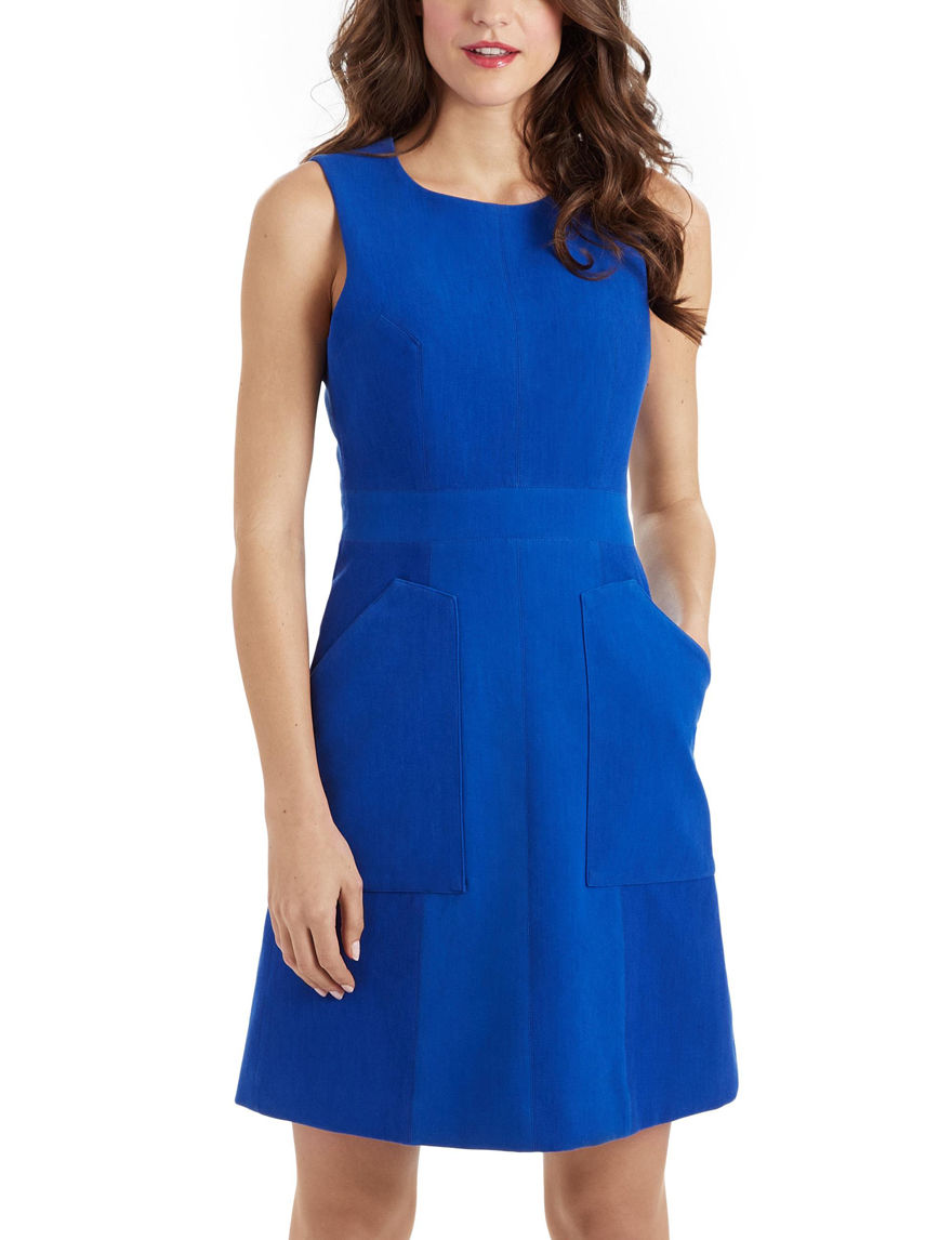 XOXO Blue Fit & Flare Dresses