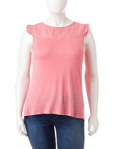 Extra Touch Coral Shirts & Blouses