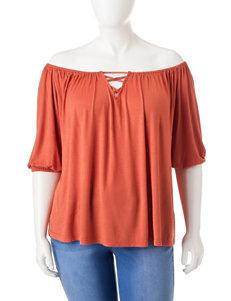 Extra Touch Orange Shirts & Blouses