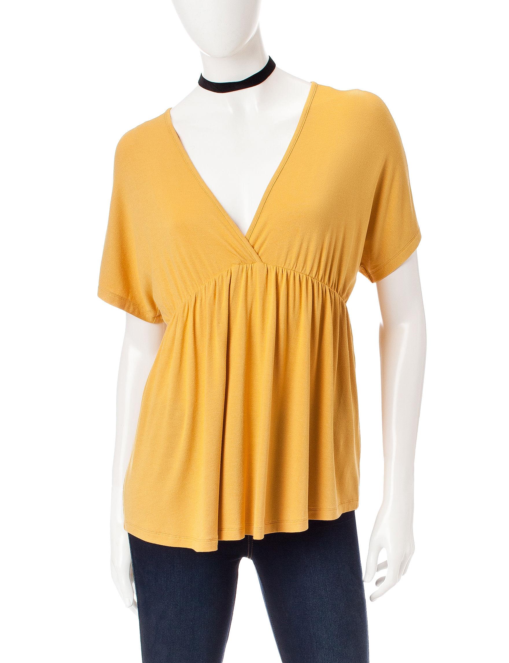 Ultra Flirt Yellow Shirts & Blouses