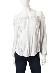 Ultra Flirt White Shirts & Blouses