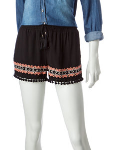 Justify Embroidered Pom Pom Shorts