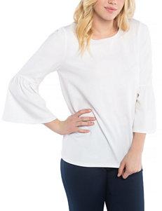 Kensie White Shirts & Blouses
