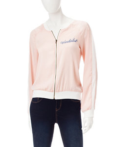 Living Doll Pink Lightweight Jackets & Blazers