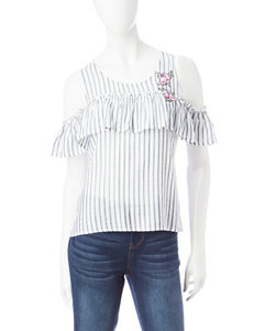 Living Doll White Shirts & Blouses