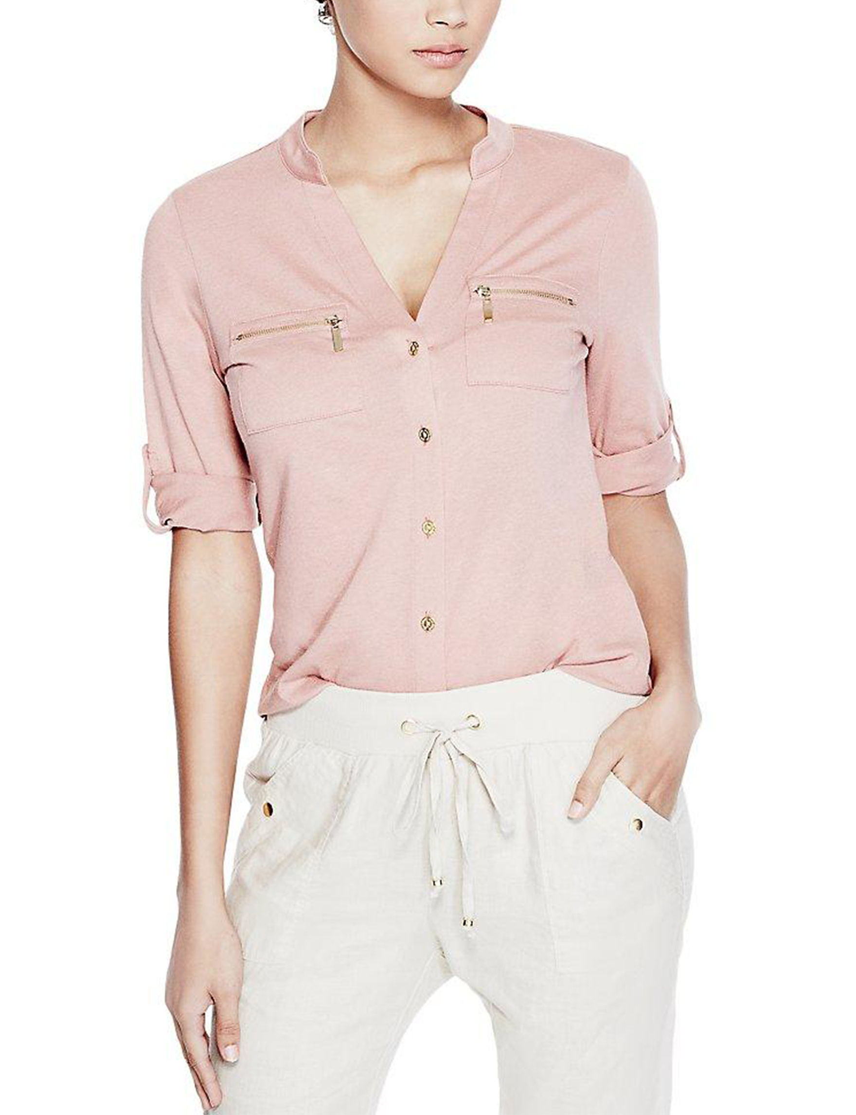 G by Guess Light Pink Shirts & Blouses