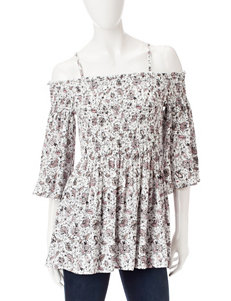 WallFlower White Shirts & Blouses