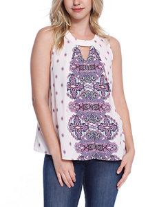 Taylor & Sage Purple Shirts & Blouses
