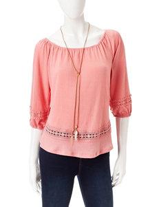 Self Esteem Pink Shirts & Blouses