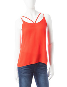 Wishful Park Red Camisoles & Tanks Shirts & Blouses
