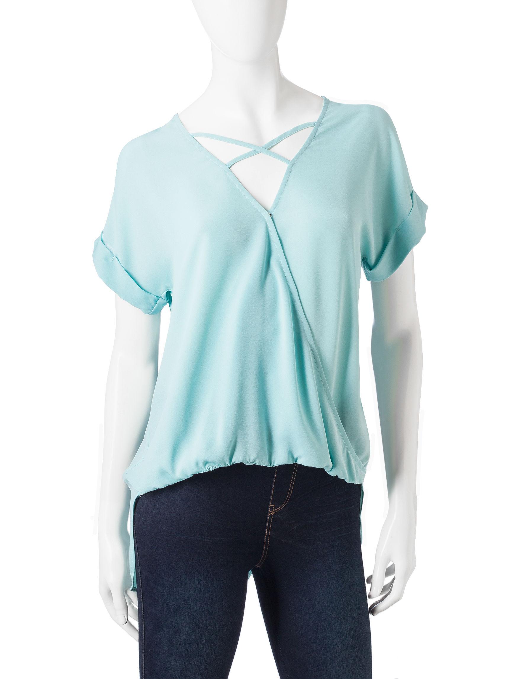Wishful Park Aqua Shirts & Blouses