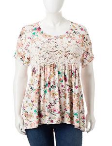 Eyeshadow Ivory Shirts & Blouses