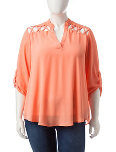 Liberty Love Coral Shirts & Blouses