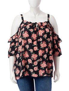 Liberty Love Black Floral Shirts & Blouses