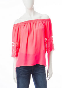Wishful Park Neon Pink Shirts & Blouses