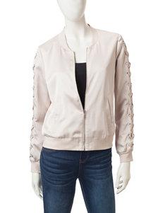 Kensie SIlver Bomber & Moto Jackets