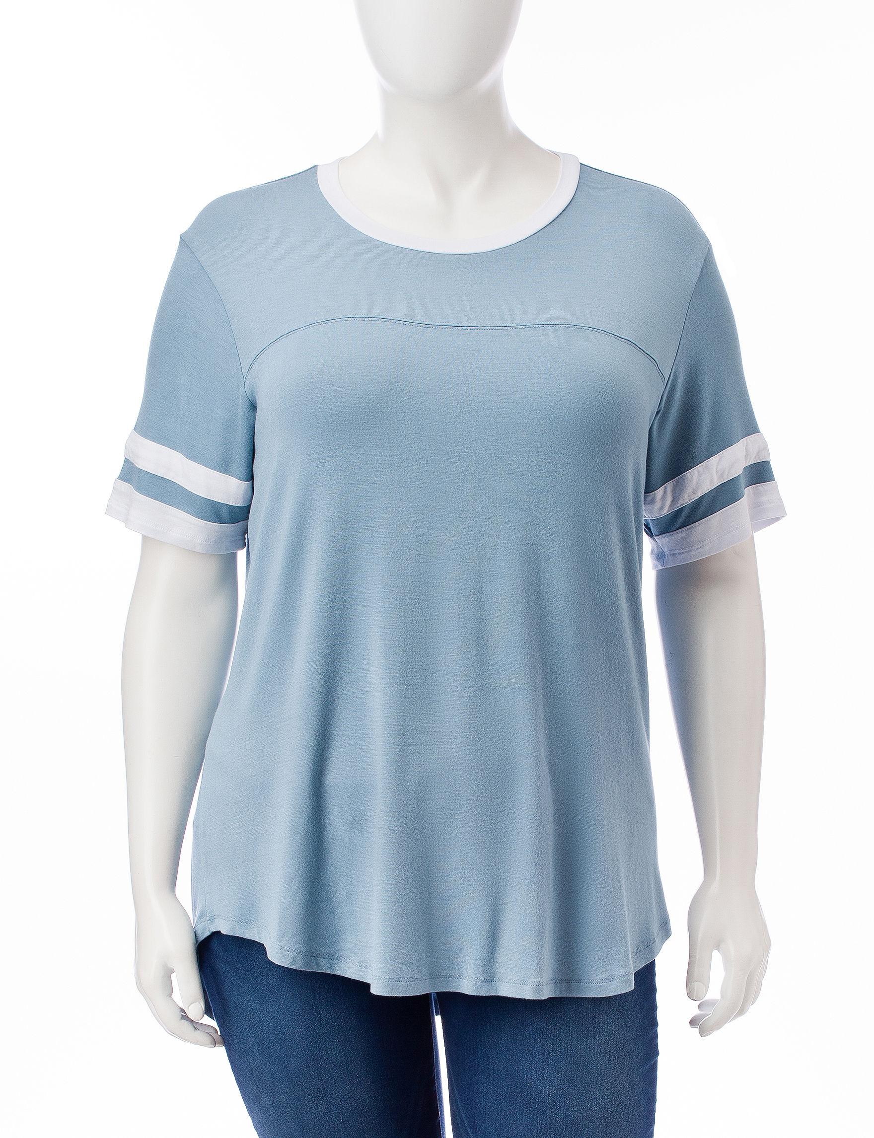 No Comment Blue Shirts & Blouses