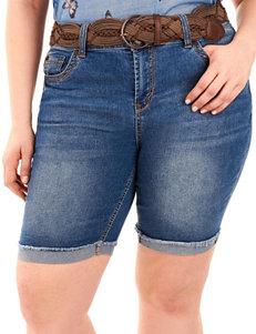 WallFlower Pink Denim Shorts